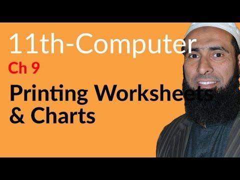 ICS Computer part 1, Ch 9, Printing Worksheets & Charts -ICS/FSC Part 1- 11th Class