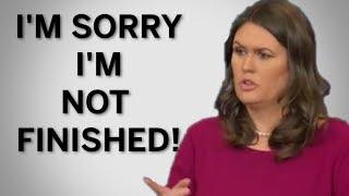 Sarah Sanders Slams Acosta