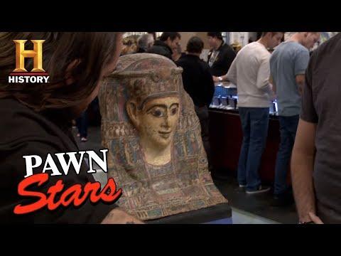 Pawn Stars: The Egyptian Cartonnage Mummy Mask | History