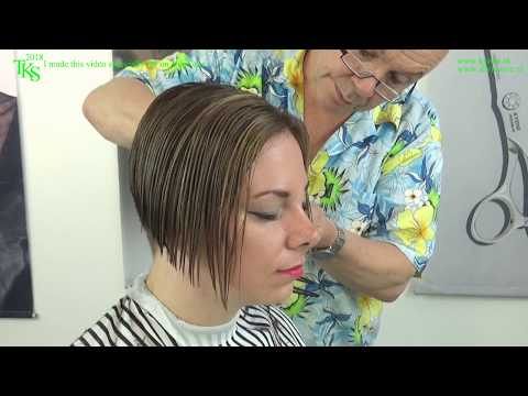 My boring hair into a trendy bob & color* Tutorial cut & color with Chantal by TKS