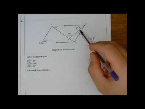ANGLES OF A PARALLELOGRAM & RHOMBUS