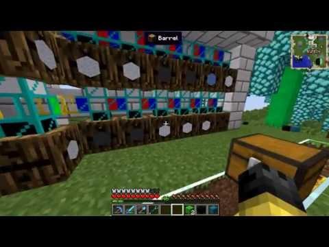Minecraft FTB Unleashed : EP 13 : Wisp Farm, Fully automated All Wool Color Sheep Farm