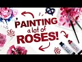 EXPERIMENTING WITH WATERCOLOR ROSES Mystery Art Box ArtSnacks Unboxing