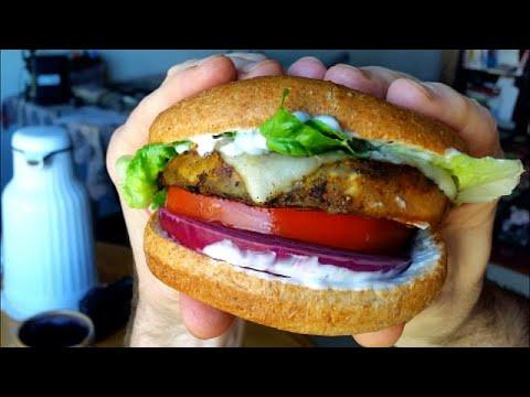 Best Vegetarian Burger Recipe - Blackened Eggplant Recipe