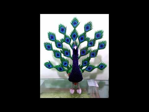 Amazing 3D Origami Peacock