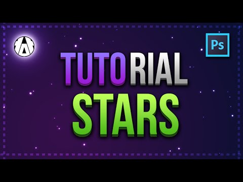 ✭ Tutorial Photoshop - How to make easy Stars in the sky or for your background ✭