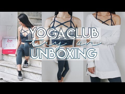 YogaClub Unboxing + Try On Review!