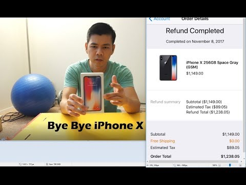 Returning the iPhone X to Apple