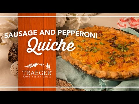 Wood-Fired Brunch Quiche by Traeger Grills
