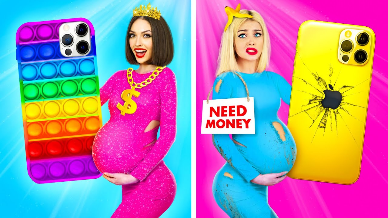 Rich Pregnant VS Broke Pregnant | Funny Pregnancy Moments with Rich vs Poor Girl by RATATA