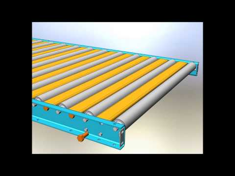 Gravity Conveyor with Walk Over Plates