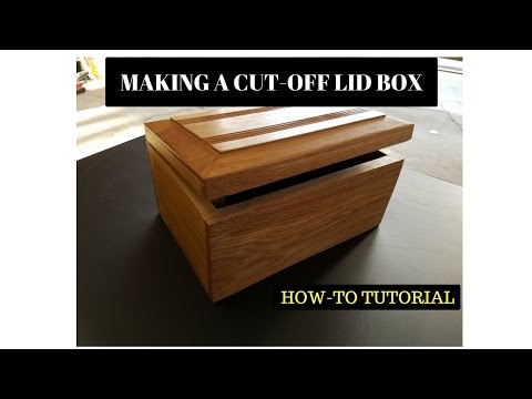 How to Make a Wooden Box with Cut-Off Lid