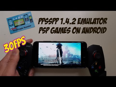 Crisis Core: Final Fantasy VII Gameplay Android Smartphone PPSSPP 1.4.2 PSP games 30FPS