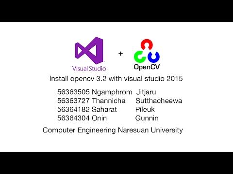 Install opencv 3.2  with visual studio 2015