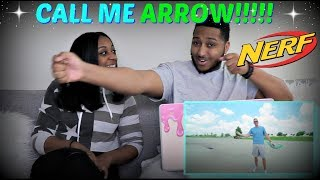 """Dude Perfect """"Nerf Bow Trick Shots"""" REACTION!!!!"""