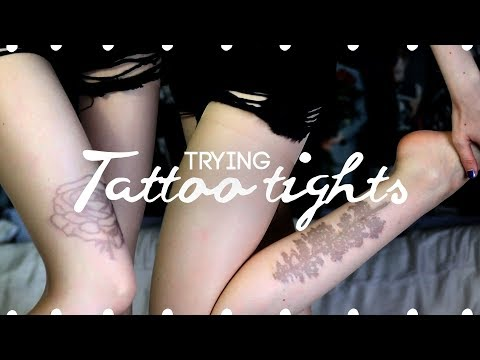 Trying tattoo tights --