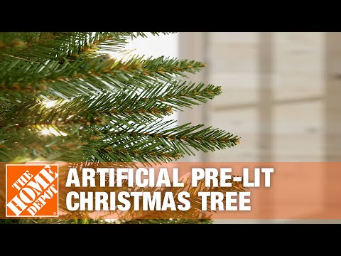 All About Artificial Pre-lit Christmas Trees - The Home Depot