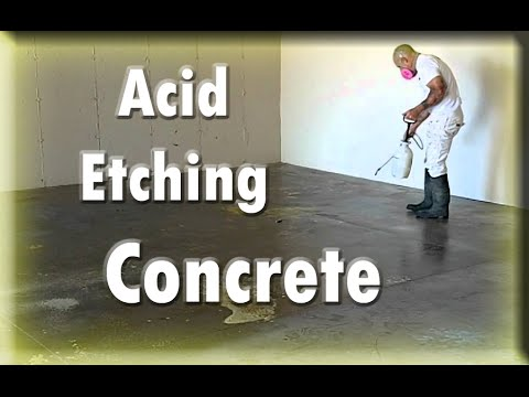 Instructions & Tutorials Preparing Concrete For Epoxy.  Acid Etching Hacks.