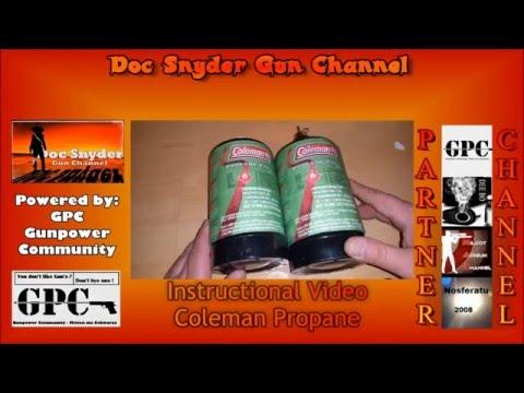 Instructional Video Coleman Propan Tank to refill GBB Magazine