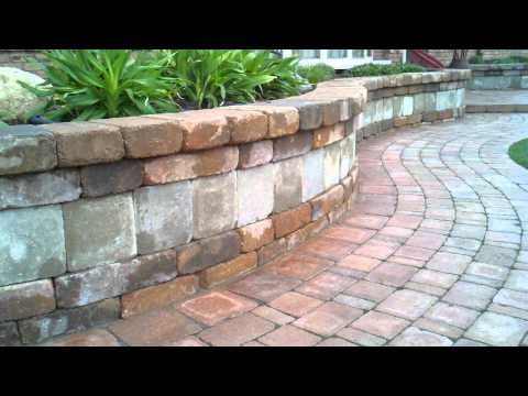 Brick Paver Sidewalk, Seating Wall, & Patio