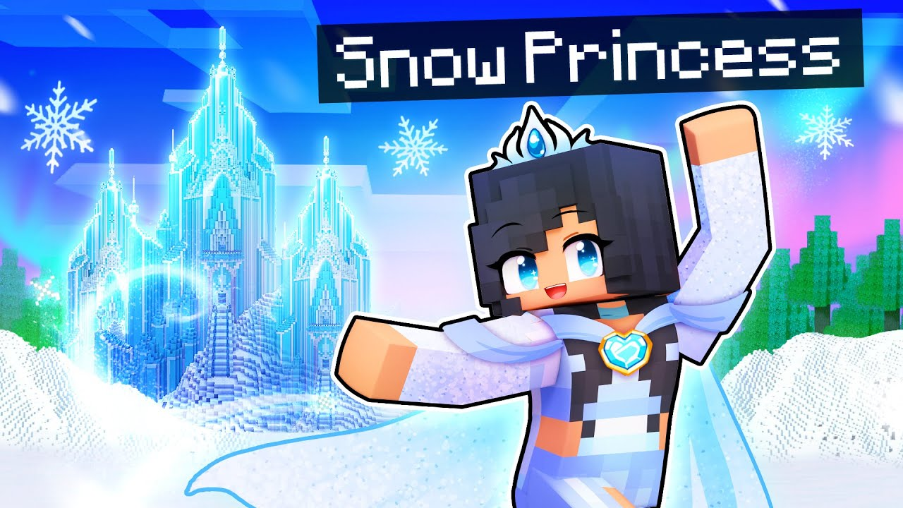 Playing as the SNOW PRINCESS in Minecraft!