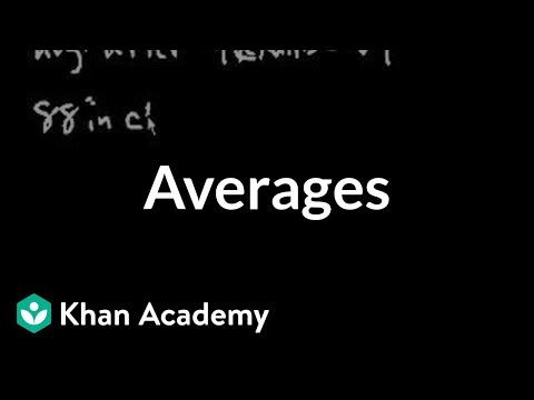 Averages | Linear equations | Algebra I | Khan Academy