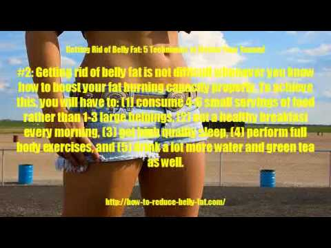 Getting Rid of Belly Fat: 5 Techniques to Flatten Your Tummy!