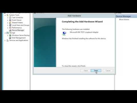 How to install Microsoft Loopback Adapter-Virtual Network Card