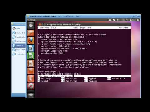 Install and Configure a DHCP Server in Ubuntu 11.10