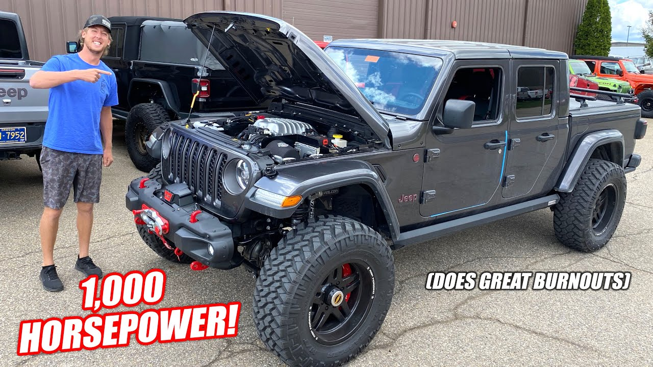 These Guys Swapped a 1,000hp HELLEPHANT Mopar Engine Into a Jeep... IT'S FREAKING FAST!!!