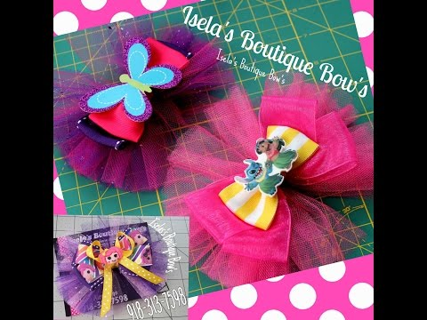 How to make a easy tulle hair bow