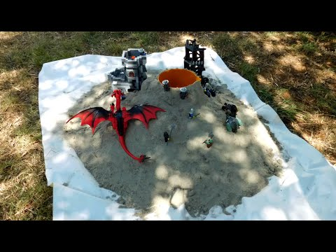 Lego Volcano Eruption