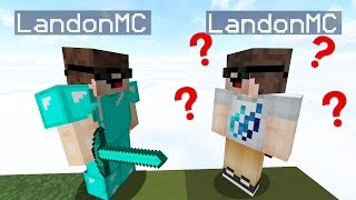 PROTECTING THE FAKE LANDONMC to WIN SKYWARS?.. ( Minecraft TROLLING )