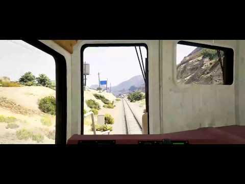 Train Ride Through San Andreas - GTA 5 Train Timelapse