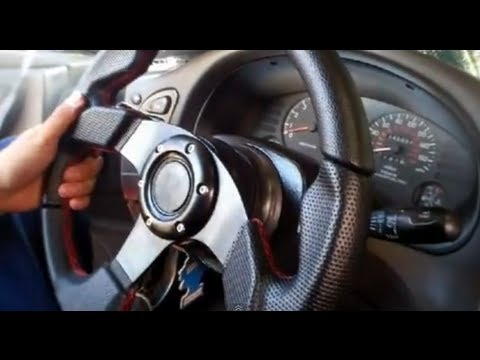 How to install a Steering wheel with horn=)