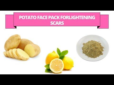 potato face pack to lighten the scars