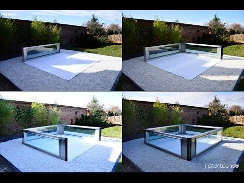 Instantpond® Raised koi pond: Assembly Part 1 - Positioning the Framework