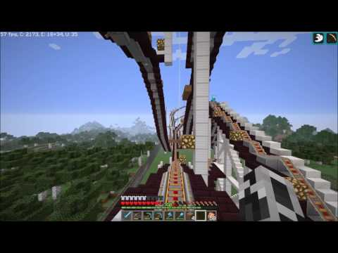 Minecraft Blawesome: Testing Roller Coaster