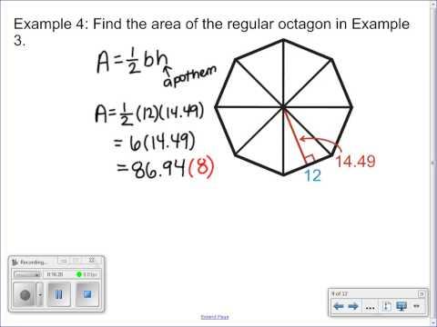 9 4 Area and Perimeter of Regular Polygons