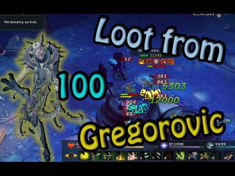 Runescape - Loot from 100 Gregorovic l God Wars 2
