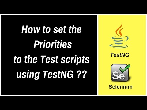 How to set priorities for the Test scripts using TestNG Annotations