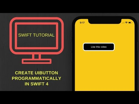Create UIButton programmatically in swift 4