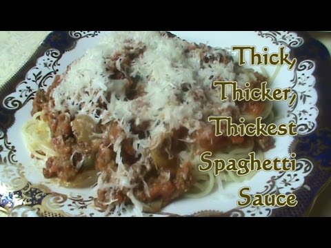 Cooking From Scratch:Thick, Thicker, Thickest Spaghetti Sauce
