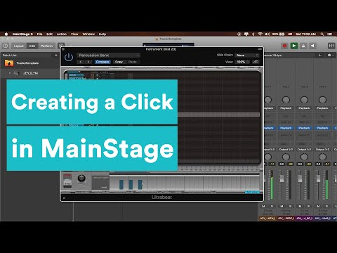 MainStage Tutorial - Creating a Custom Click