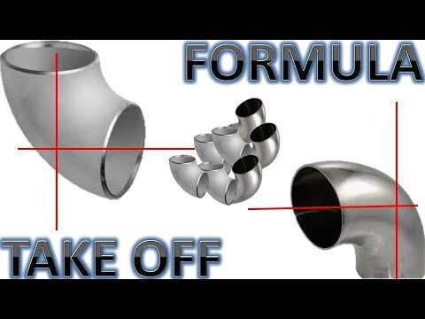 Formula To Get TAKEOFF 90 & 45 Degrees Elbow LR
