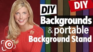 Diy Portable Background Stand & Portrait Photography Background Material For Studio Or Location