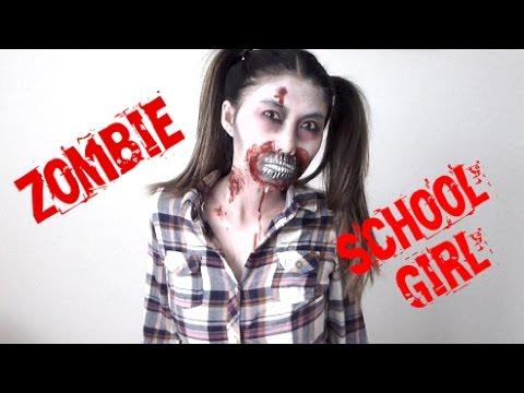 Halloween Tutorial: Zombie School Girl!