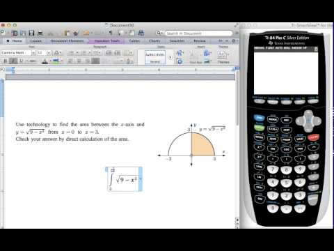 fnInt: How to find a definite integral using ti84