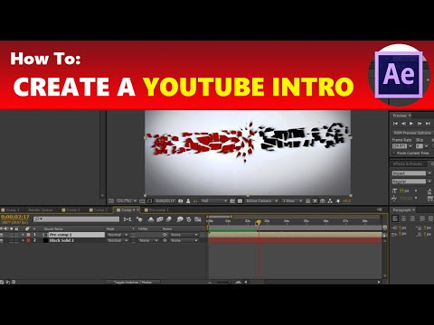 How To: Create an Awesome Yet Simple YouTube Intro in After Effects