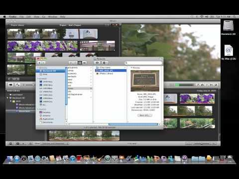 iMovie 11: Adding Still Images
